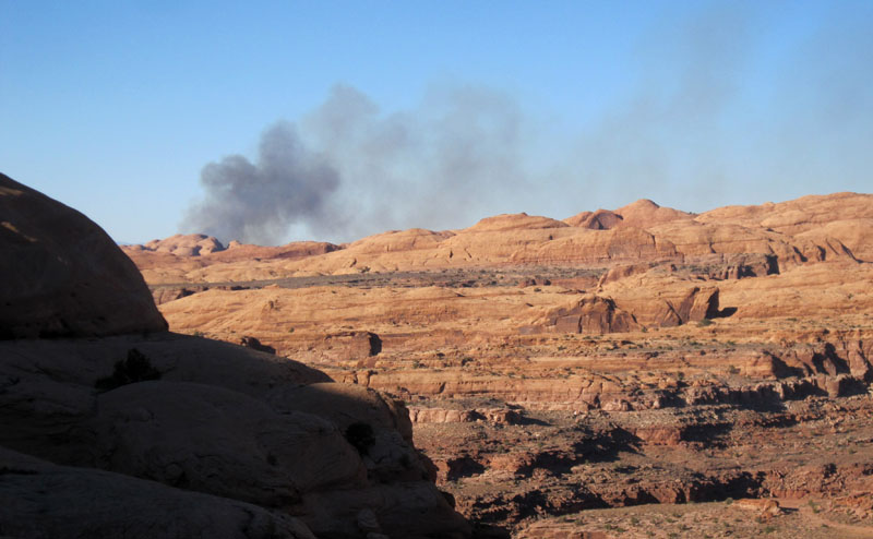 Fire over Pritchett Canyon
