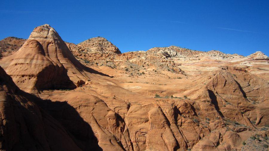 across from the ridge