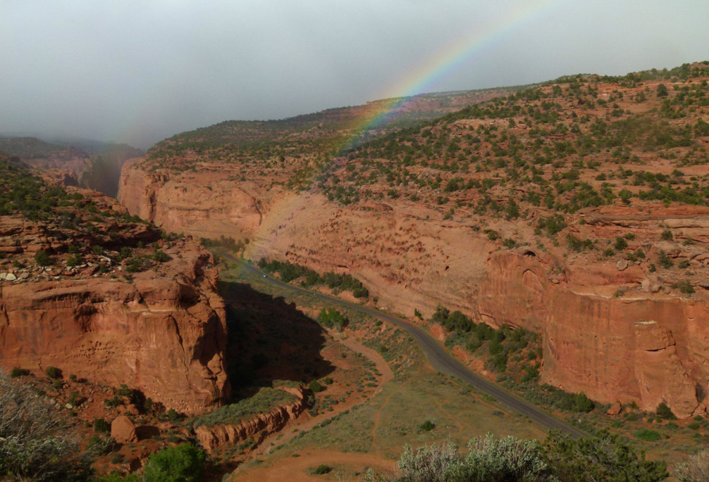 Rainbow over Long Canyon