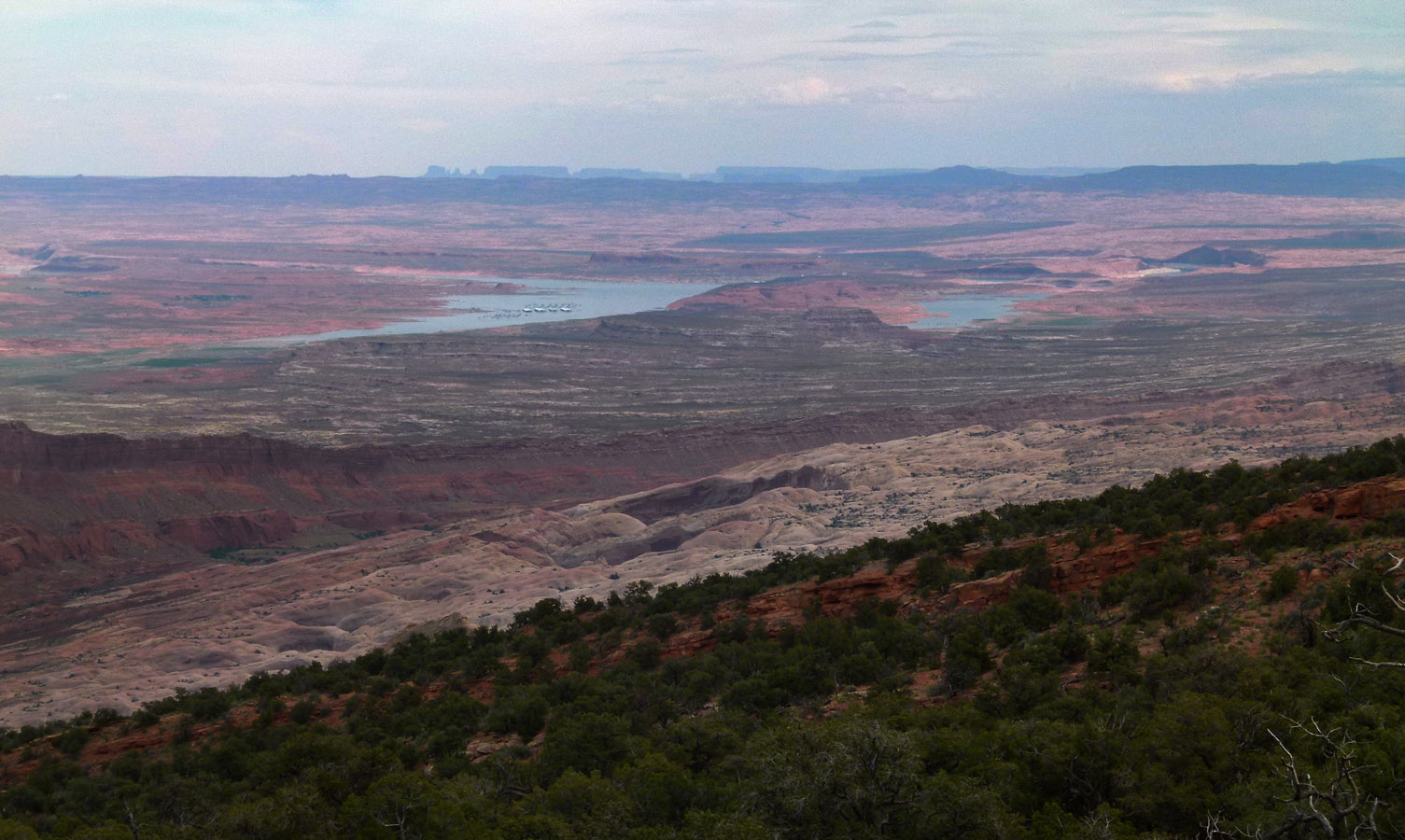 Top of the Fold looking toward Lake Powell