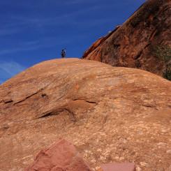 Looking up the Slickrock Ramp