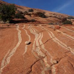 Striped slickrock in Upper Harris Wash