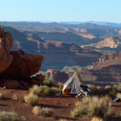 camp above Dirty Devil River