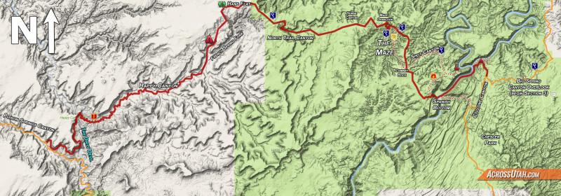 Hayduke Happy Maze Alternate Across Utah