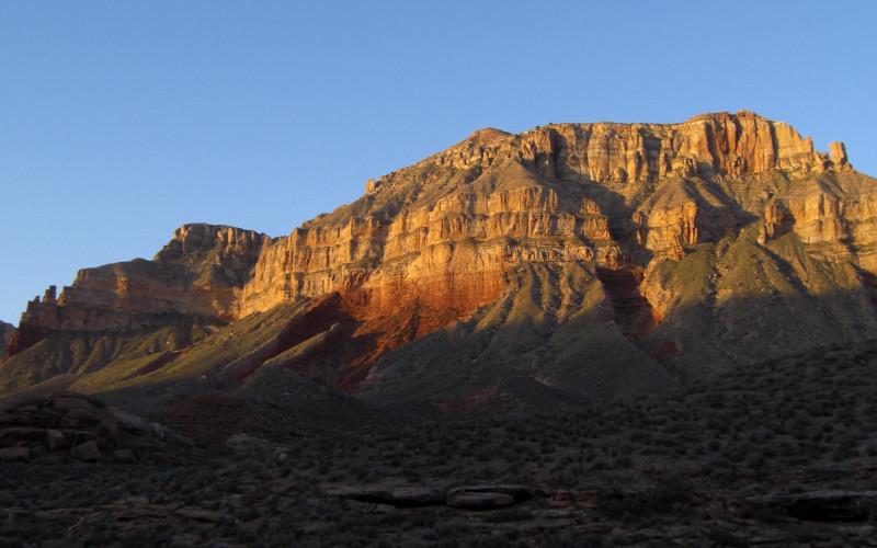 sunrise in Hack Canyon