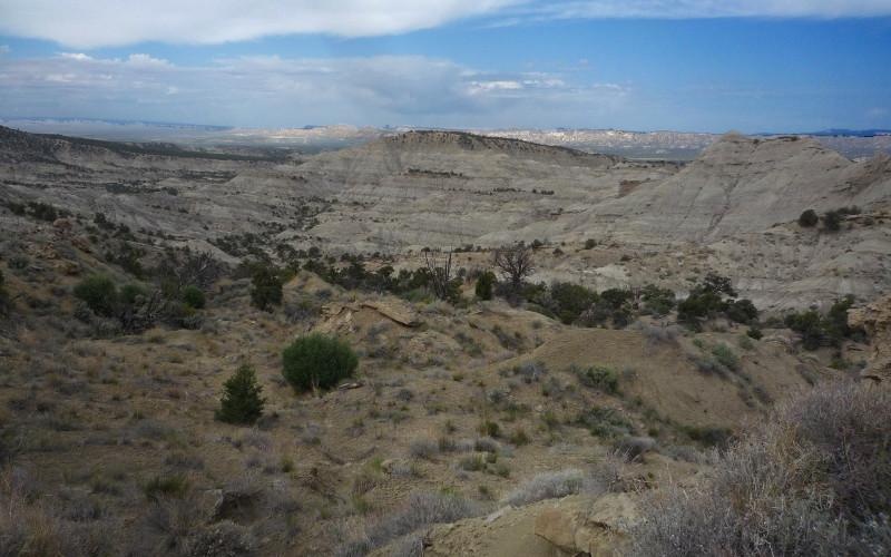 The Mudhills (prominent walking ridge in center)