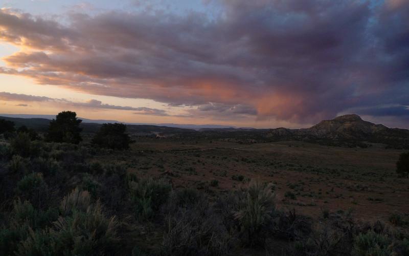 sunset on Little Valley area